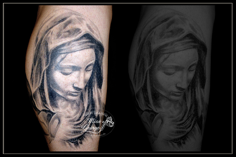 tattoo pieta black&white wade miss george berlin tattoo zone