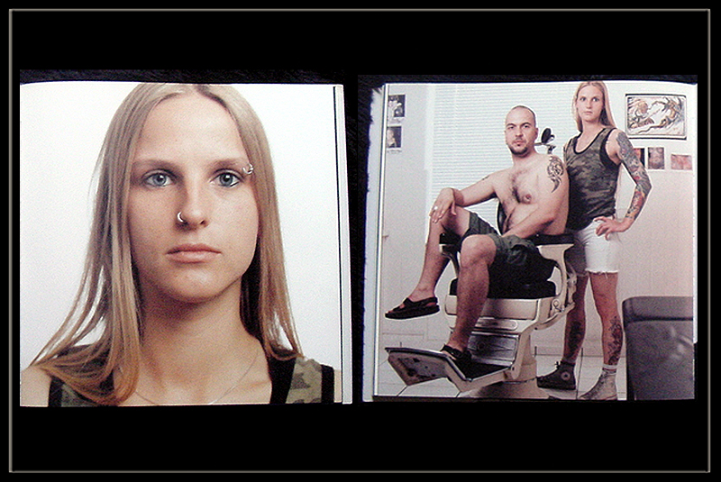 foto tattooartists miss george portrait und kundenbild aus buch meister des tattoo