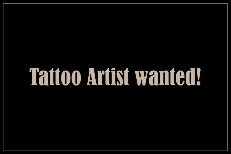 Gallery Tattoo Artist wanted