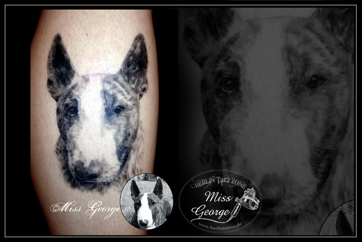 Tattoo Portrait Hund Black&Grey Wade. Berlin Tat2 Zone