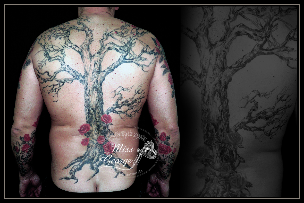 Tattoo Tree Backpiece. Miss George Berlin Tat2 Zone