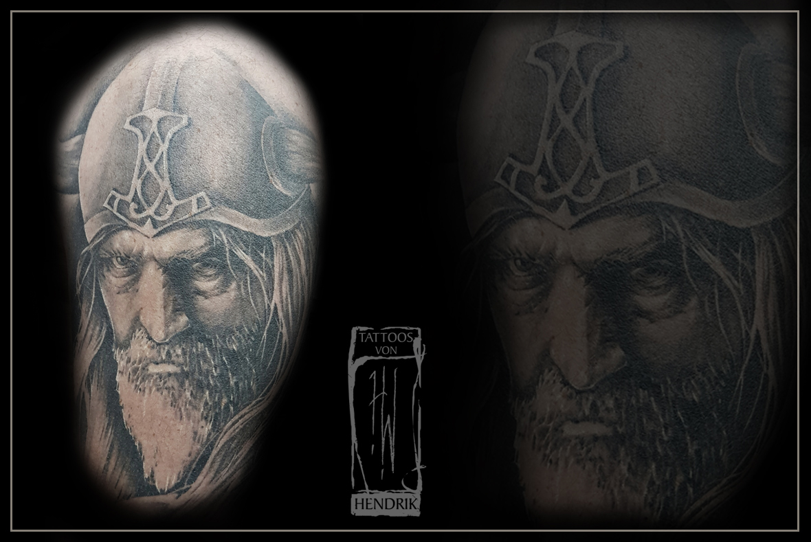 Wikingertattoo Black&Grey Hendrik Berlin Tat2 Zone